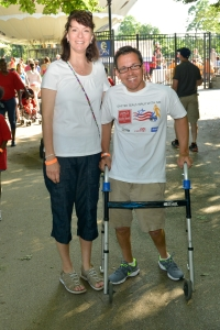 Bill with Easter Seals parent and volunteer Jeannine Hesser