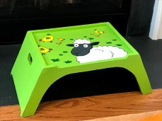 Decorated custom stool