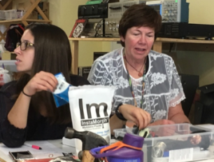 Therapists learned to use moldable plastic to adapt devices and handles.