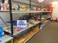 St. Giles Toy Library is a community resource; this photo shows a part.
