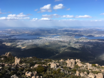 Hobart as seen from Mt. Wellington.