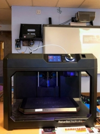 One of the 3D printers made possible by the Comcast grant