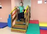 OJ on steps